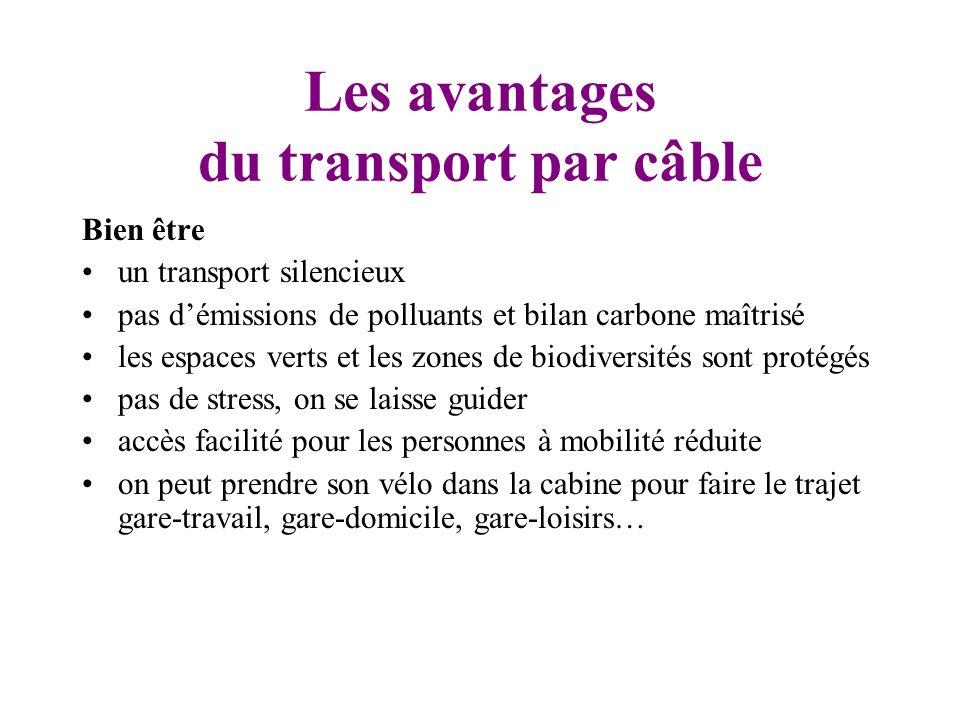 Les avantages du transport par câble