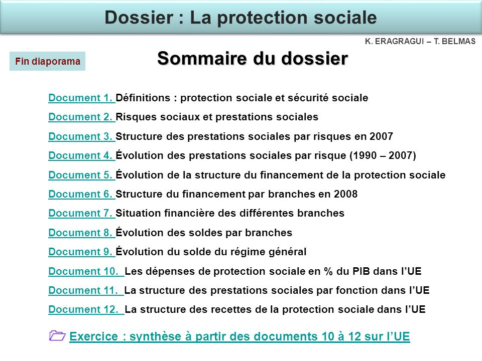 Dossier : La protection sociale