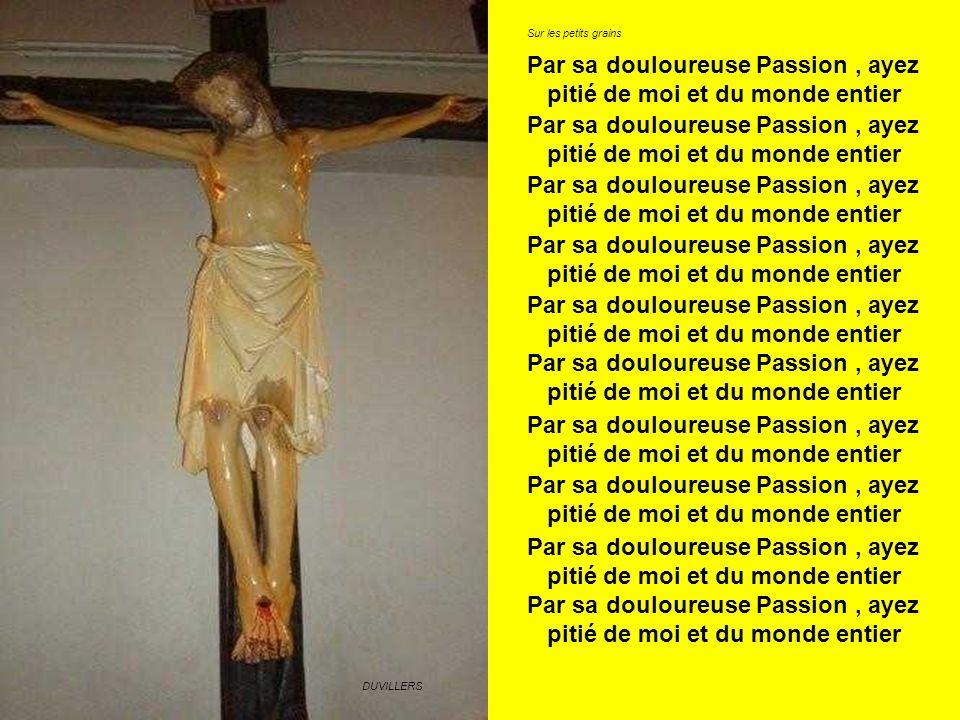 Par sa douloureuse Passion , ayez pitié de moi et du monde entier