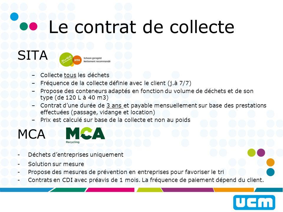 Le contrat de collecte SITA MCA Collecte tous les déchets