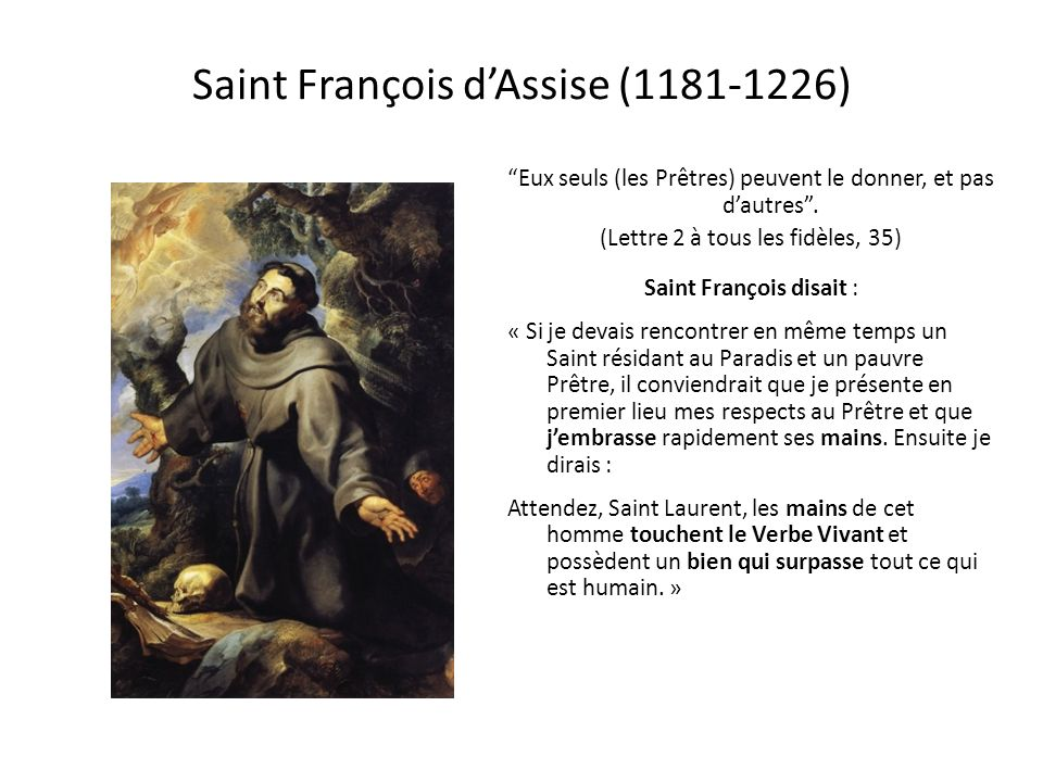 Saint François d'Assise (1181-1226)