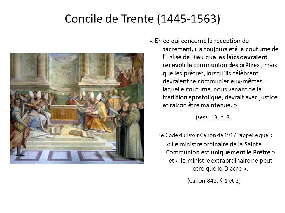 Le Code du Droit Canon de 1917 rappelle que :