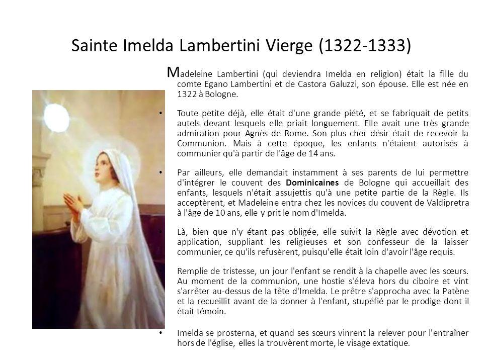Sainte Imelda Lambertini Vierge (1322-1333)
