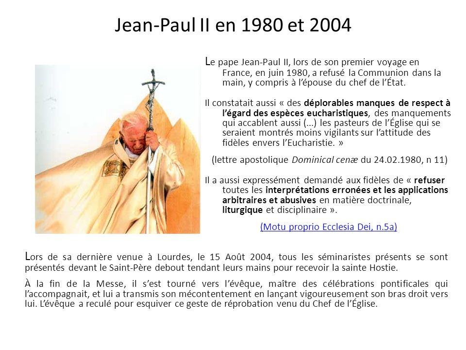 Jean-Paul II en 1980 et 2004