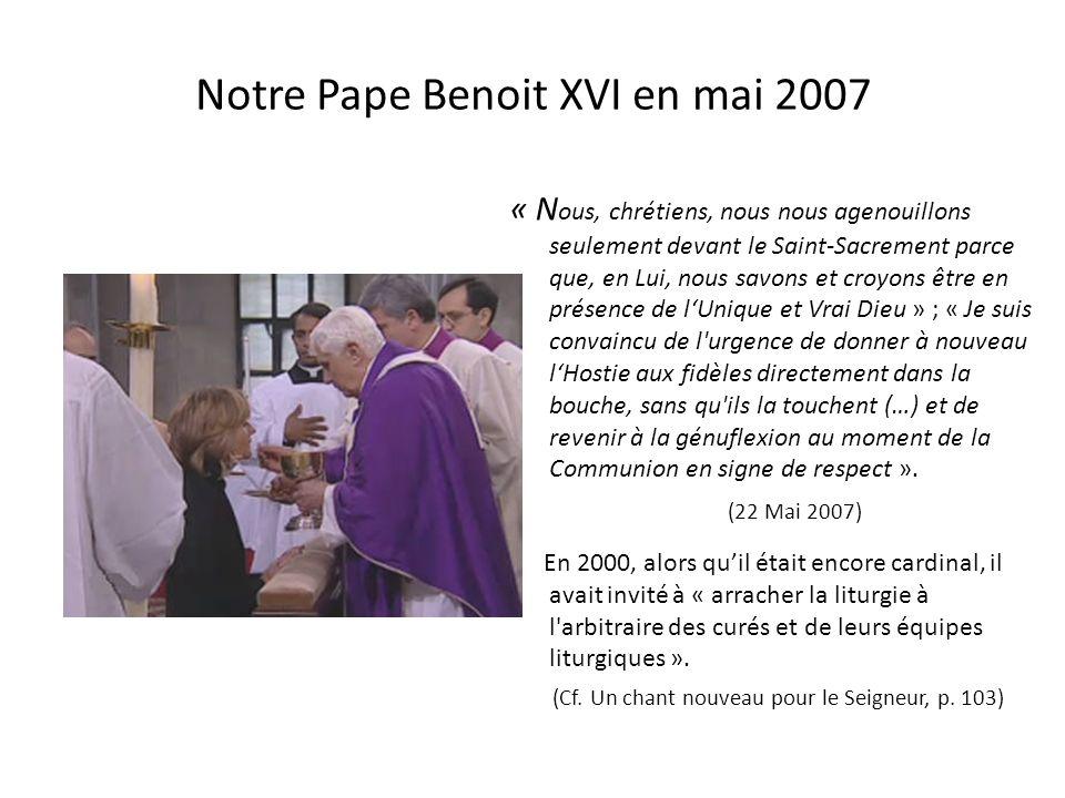 Notre Pape Benoit XVI en mai 2007