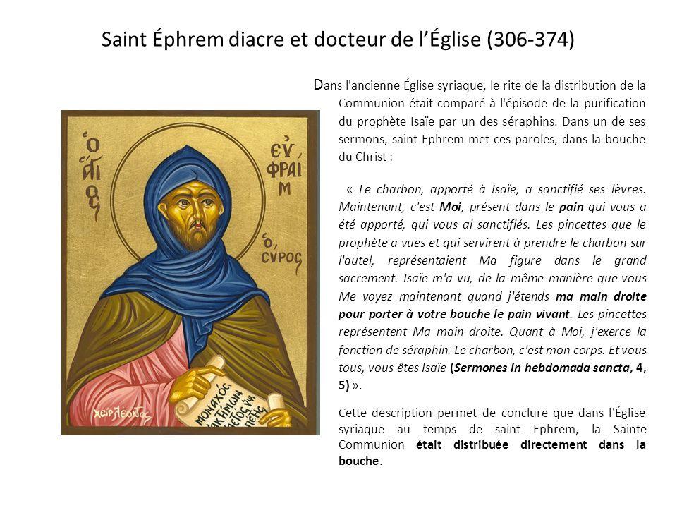 Saint Éphrem diacre et docteur de l'Église (306-374)
