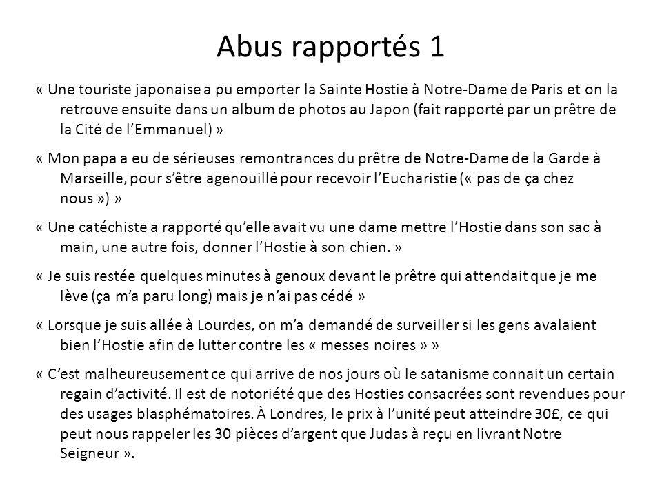 Abus rapportés 1