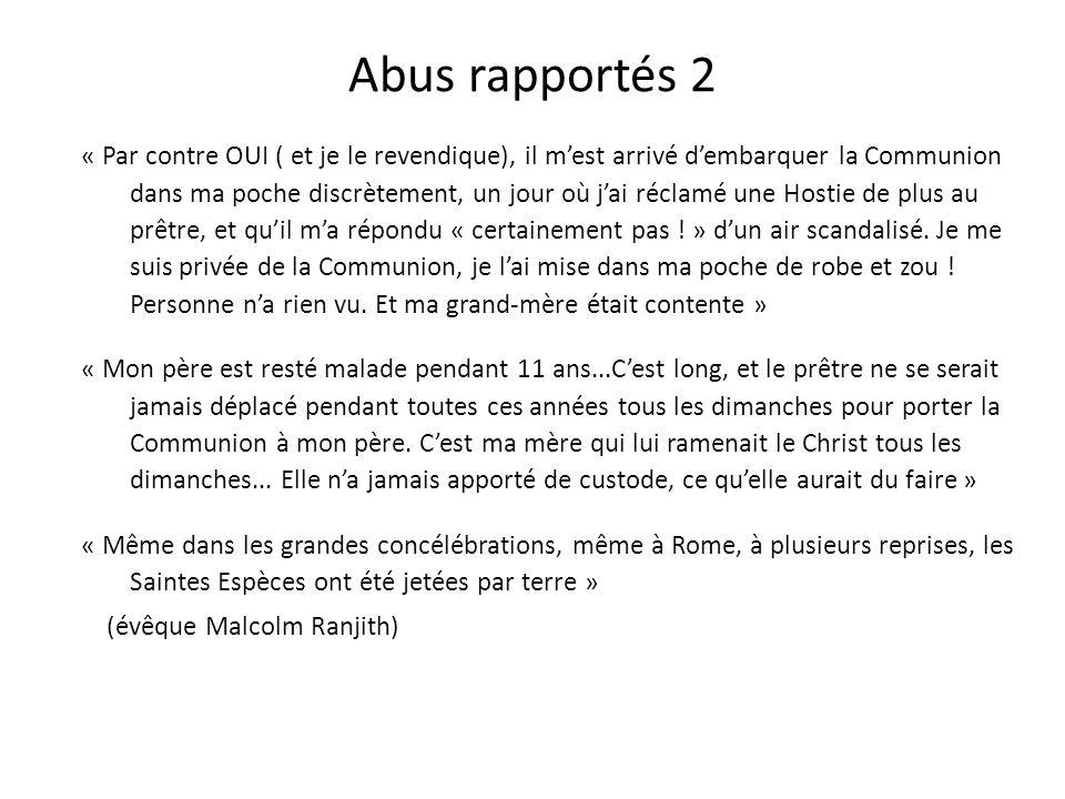 Abus rapportés 2