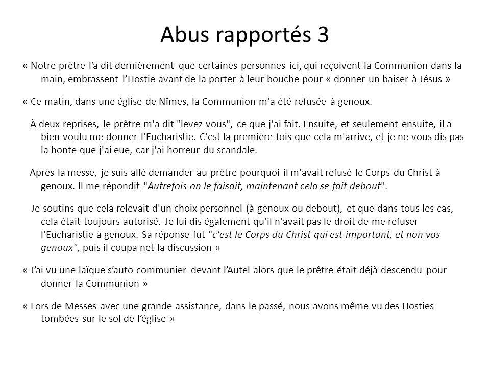 Abus rapportés 3
