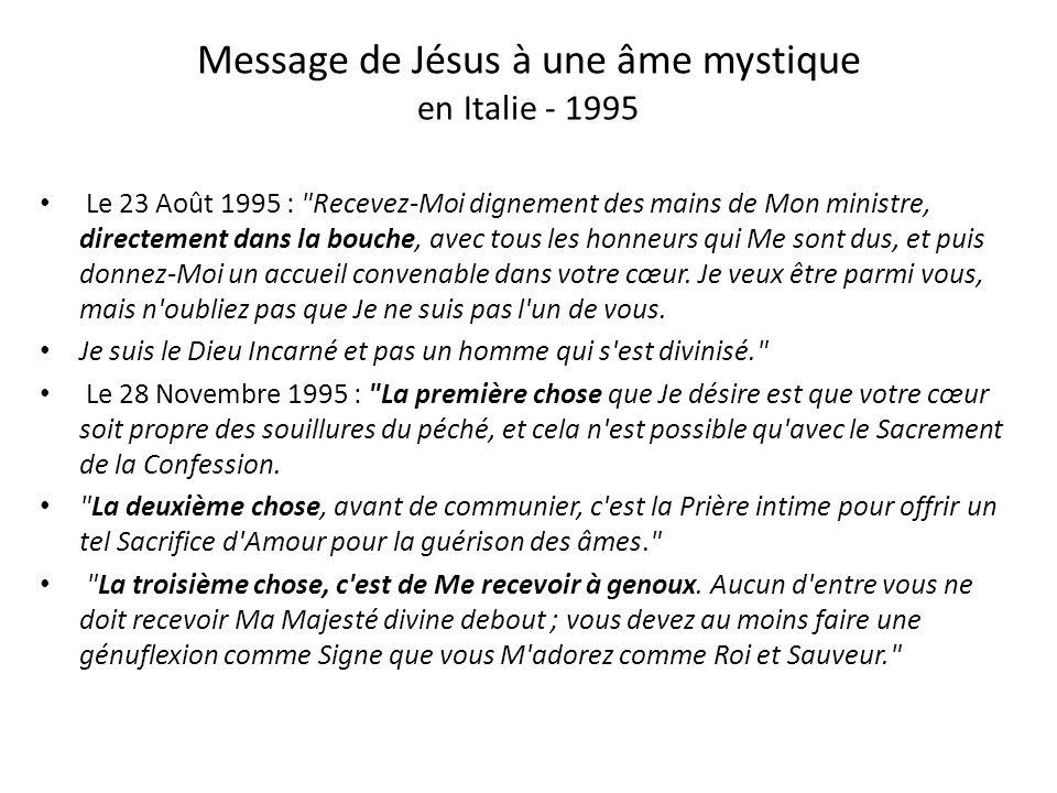 Message de Jésus à une âme mystique en Italie - 1995