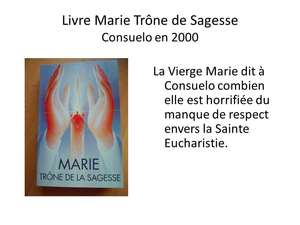 Livre Marie Trône de Sagesse Consuelo en 2000