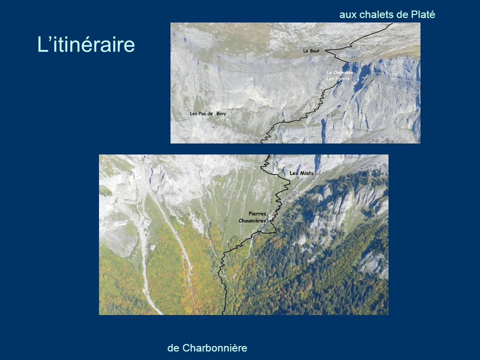 aux chalets de Platé L'itinéraire de Charbonnière