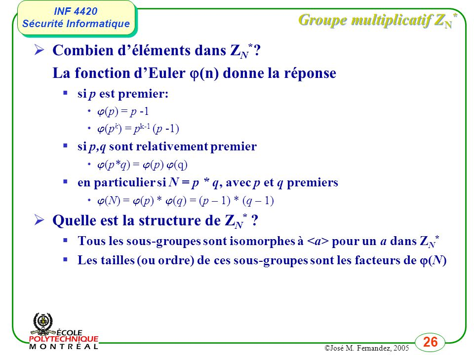 Groupe multiplicatif ZN*