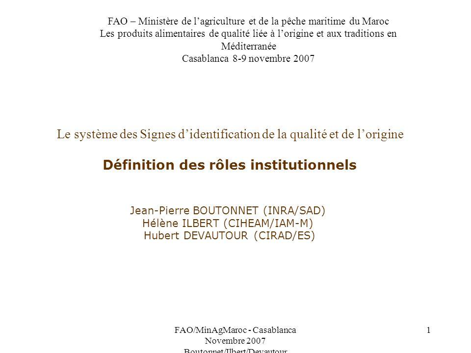 FAO – Ministère de l'agriculture et de la pêche maritime du Maroc