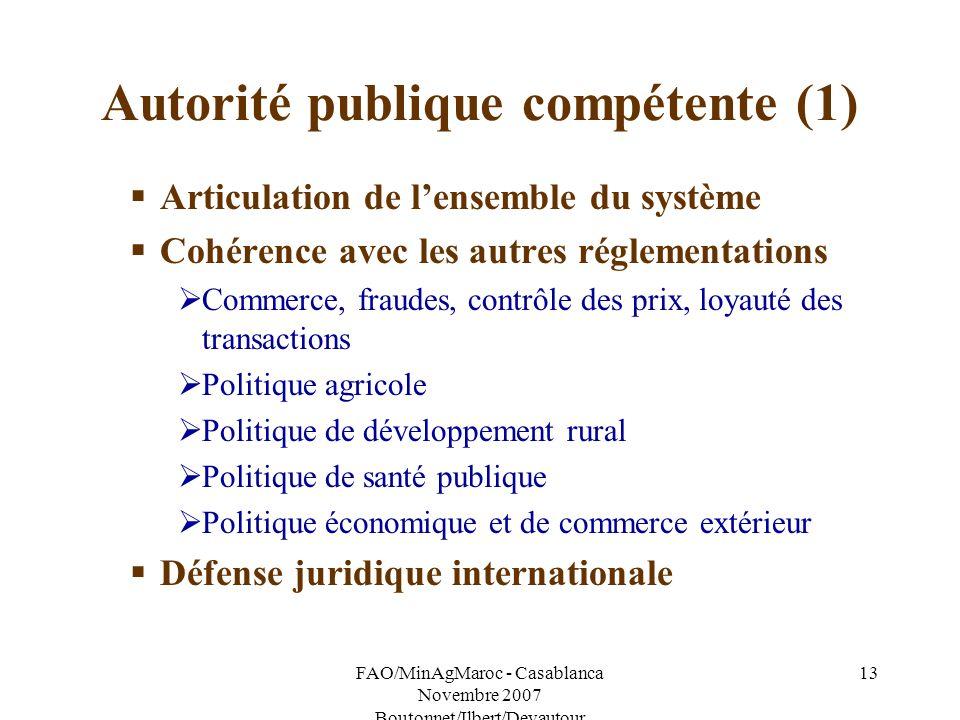 Autorité publique compétente (1)