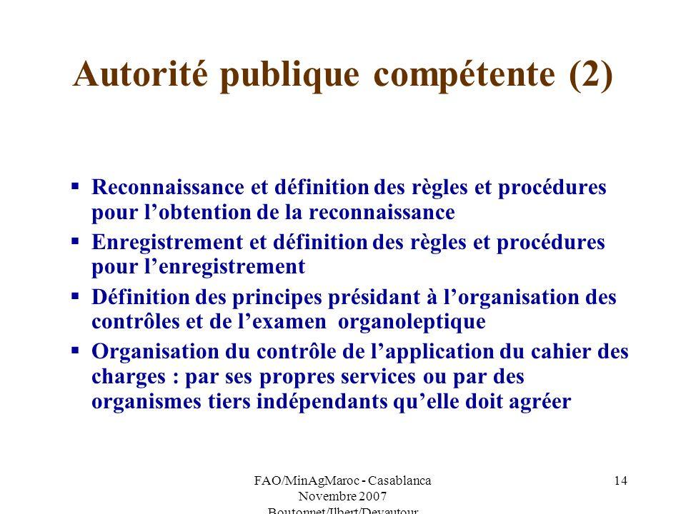 Autorité publique compétente (2)