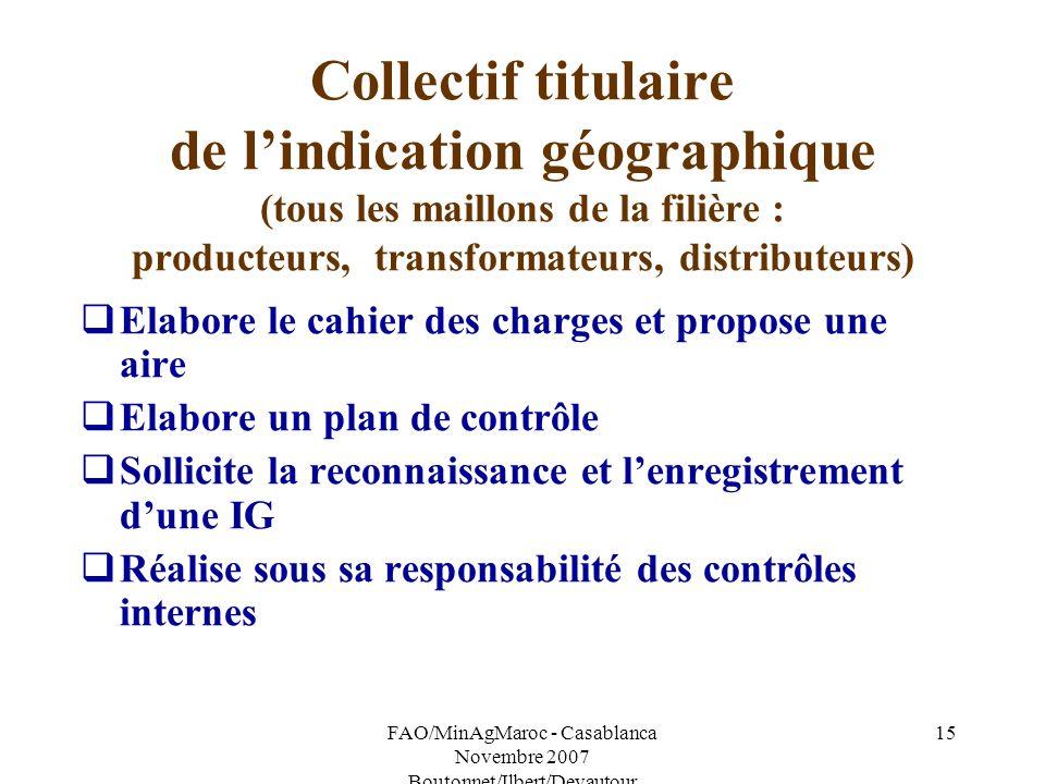 FAO/MinAgMaroc - Casablanca Novembre 2007 Boutonnet/Ilbert/Devautour