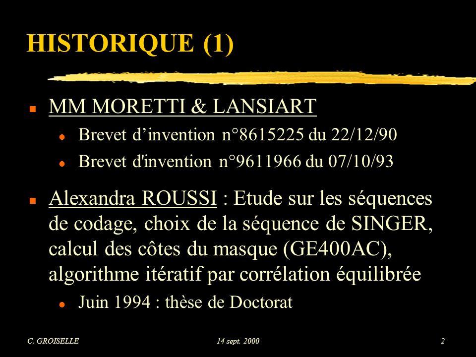HISTORIQUE (1) MM MORETTI & LANSIART