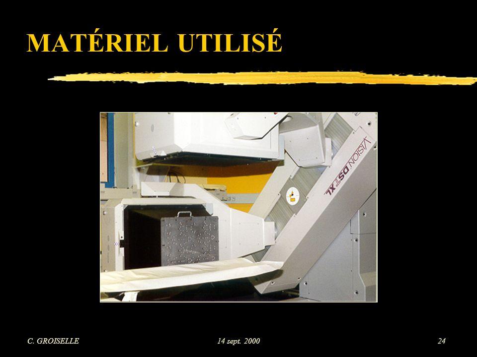 MATÉRIEL UTILISÉ