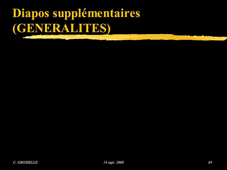 Diapos supplémentaires (GENERALITES)
