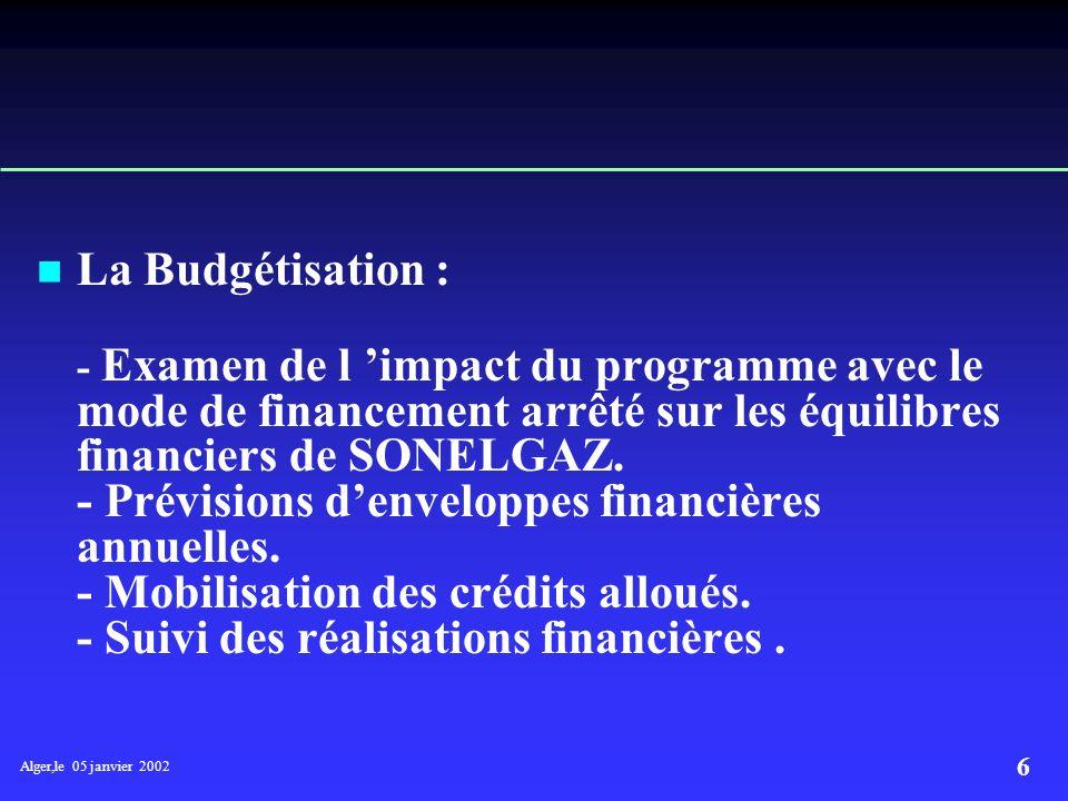 La Budgétisation :