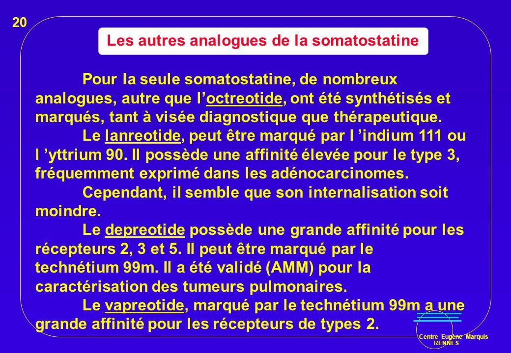 Les autres analogues de la somatostatine