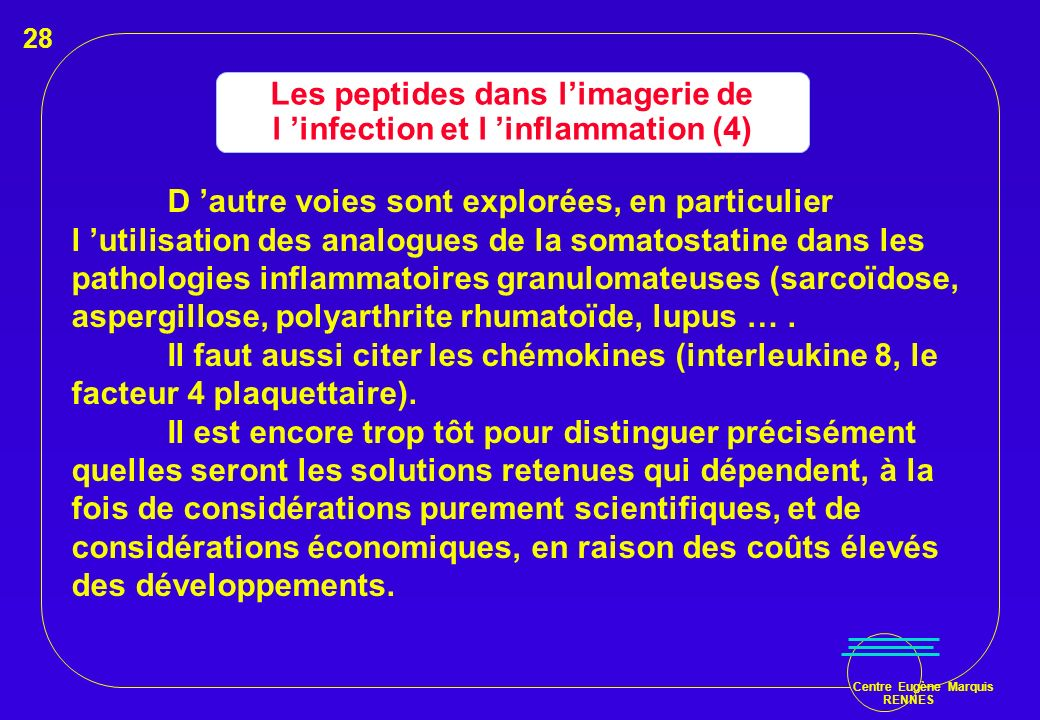 Les peptides dans l'imagerie de l 'infection et l 'inflammation (4)