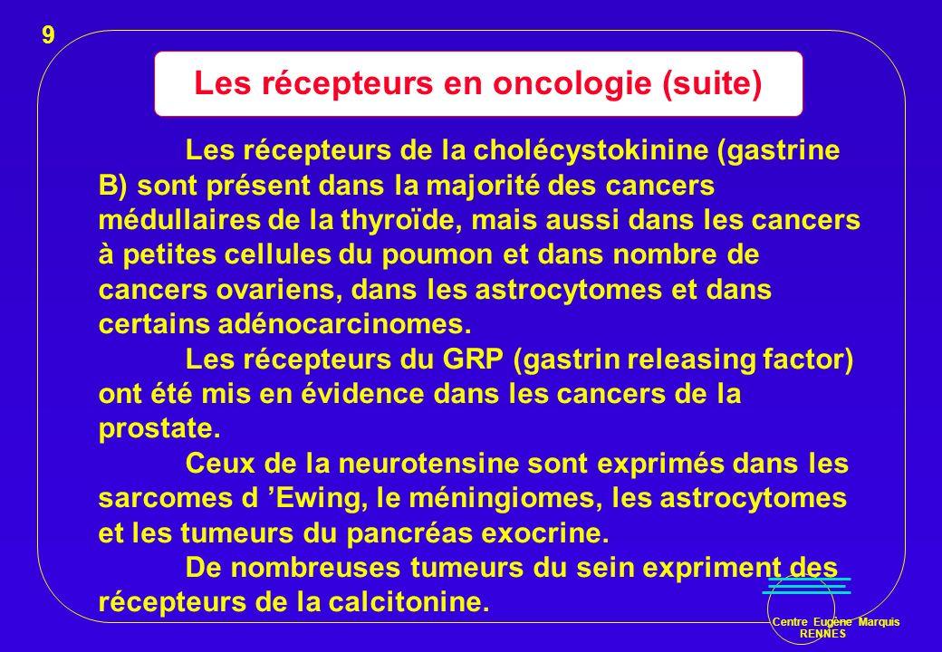 Les récepteurs en oncologie (suite)