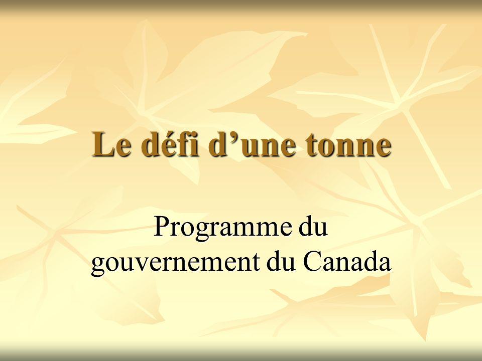 Programme du gouvernement du Canada