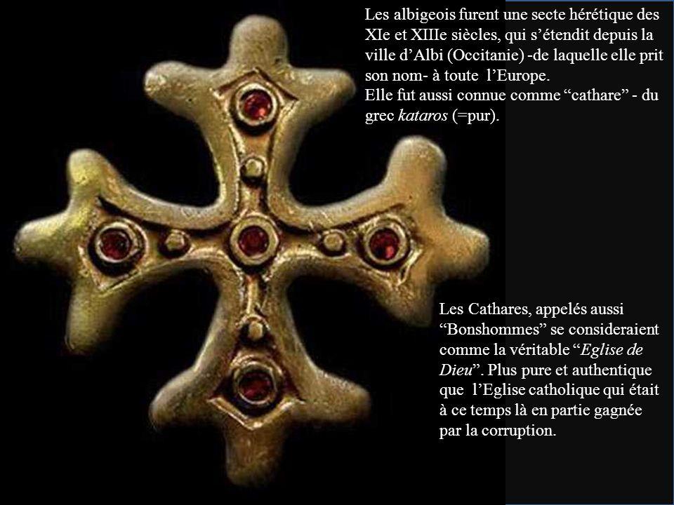 Les albigeois furent une secte hérétique des XIe et XIIIe siècles, qui s'étendit depuis la ville d'Albi (Occitanie) -de laquelle elle prit son nom- à toute l'Europe.