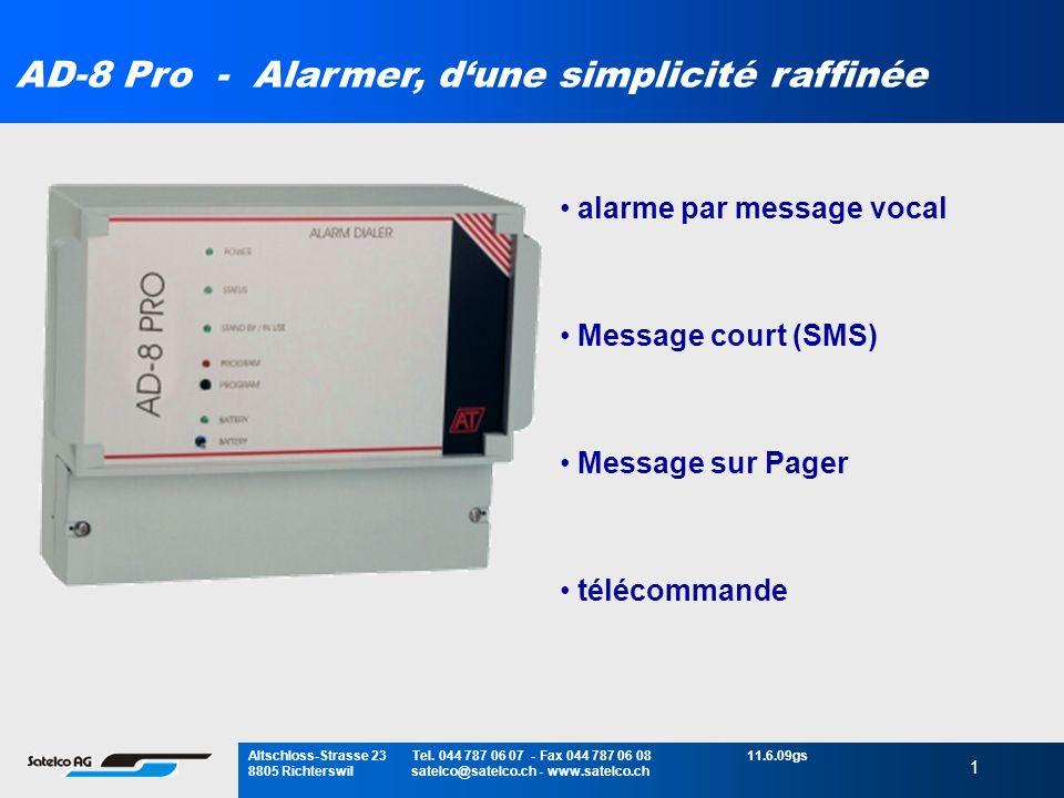 AD-8 Pro - Alarmer, d'une simplicité raffinée
