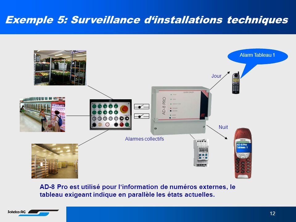 Exemple 5: Surveillance d'installations techniques