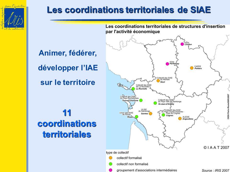 11 coordinations territoriales