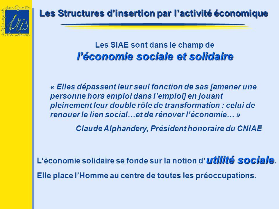 Les SIAE sont dans le champ de l'économie sociale et solidaire