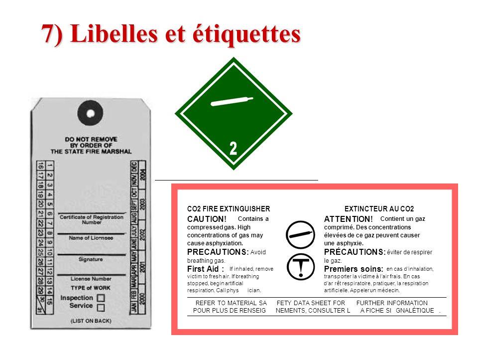 7) Libelles et étiquettes