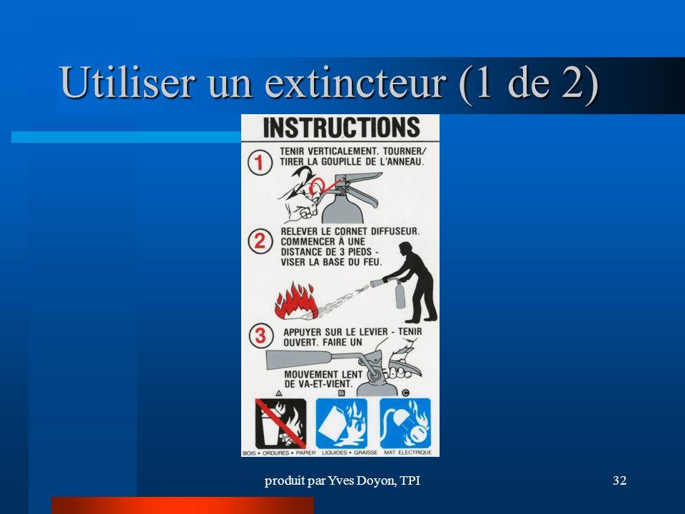 Utiliser un extincteur (1 de 2)