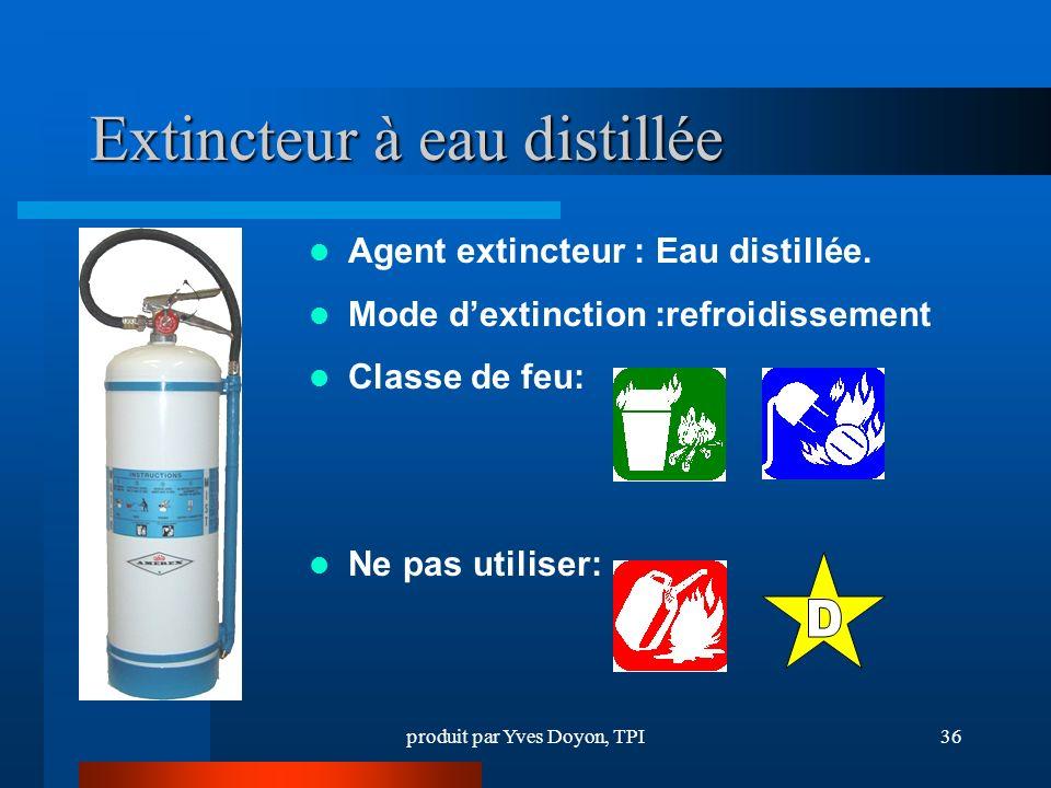 Extincteur à eau distillée