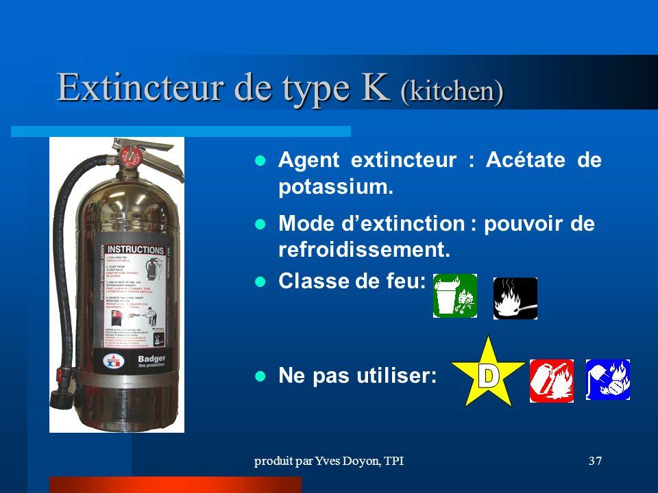 Extincteur de type K (kitchen)