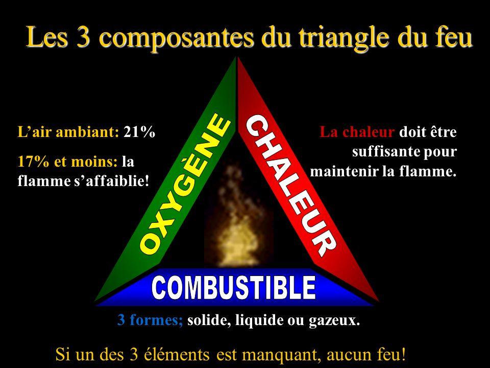 Les 3 composantes du triangle du feu