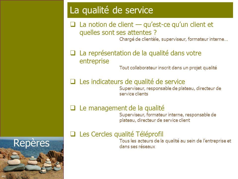 La qualité de service La notion de client — qu'est-ce qu'un client et quelles sont ses attentes