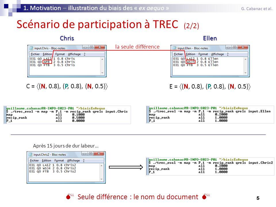 Scénario de participation à TREC (2/2)