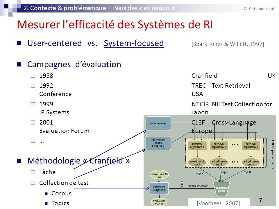 Mesurer l'efficacité des Systèmes de RI