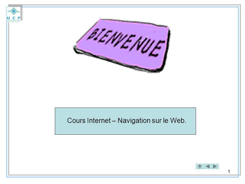 Cours Internet – Navigation sur le Web.