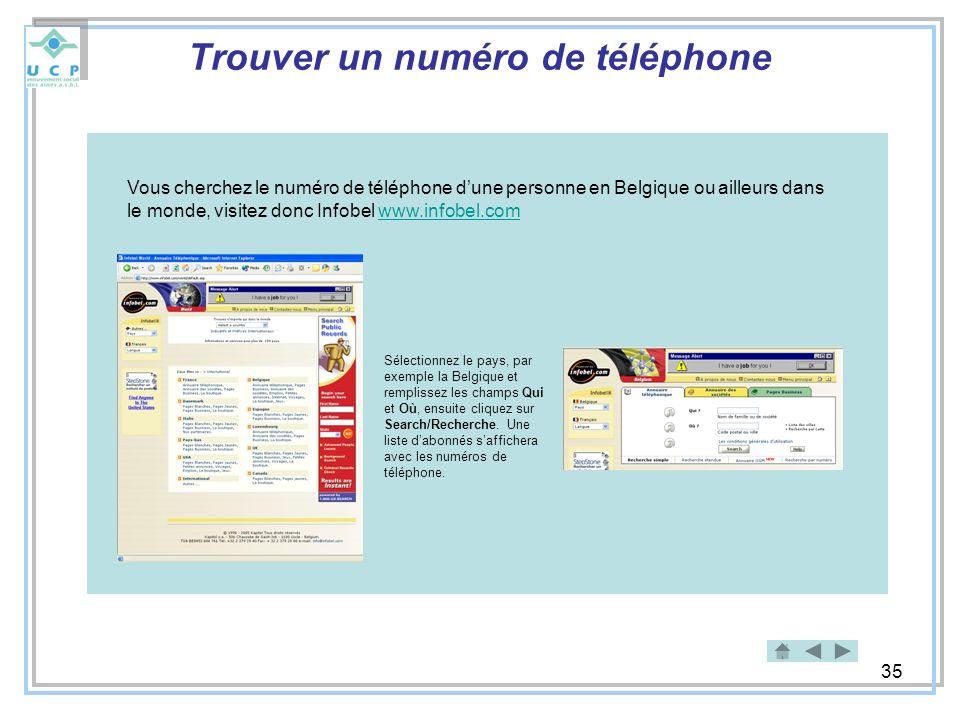 Trouver un numéro de téléphone