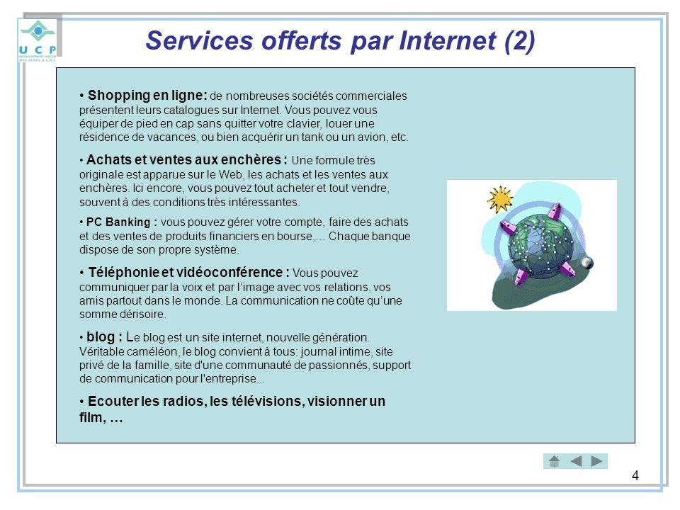 Services offerts par Internet (2)