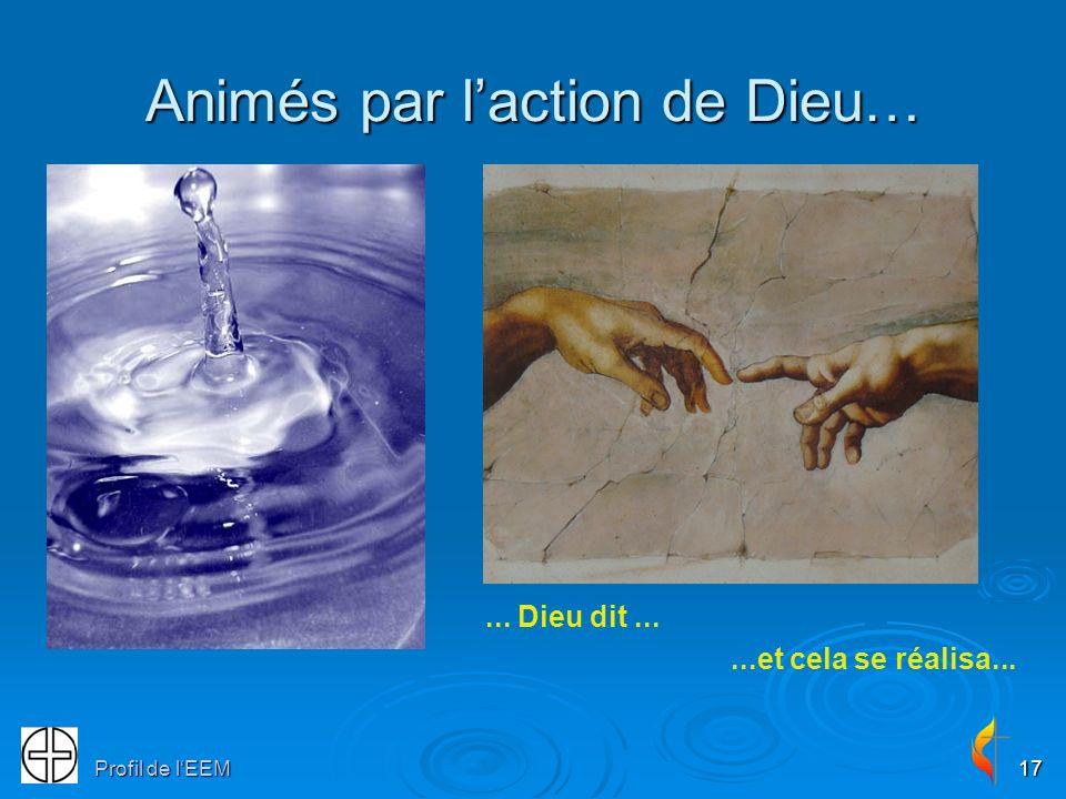 Animés par l'action de Dieu…