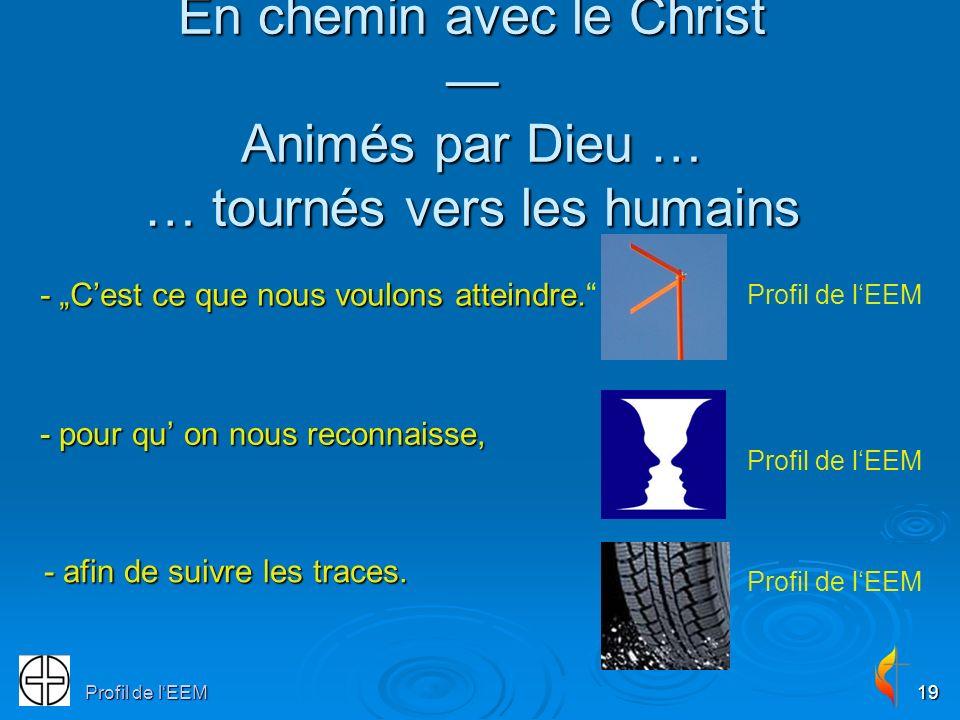 En chemin avec le Christ — Animés par Dieu … … tournés vers les humains