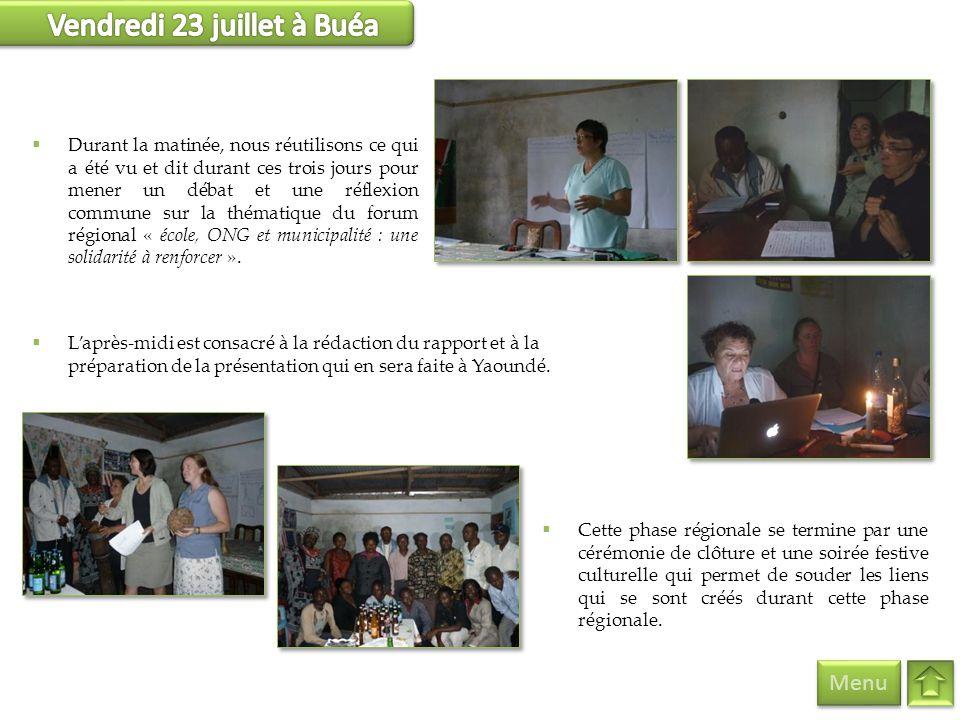 Vendredi 23 juillet à Buéa