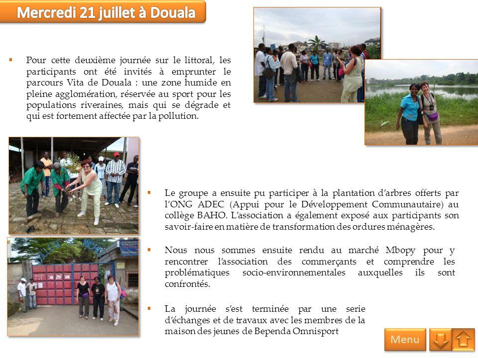 Mercredi 21 juillet à Douala