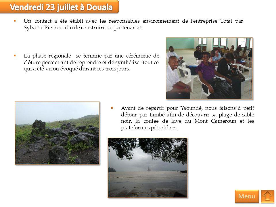 Vendredi 23 juillet à Douala